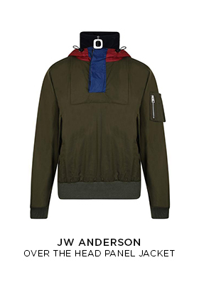 JW Anderson over-the-head panel jacket