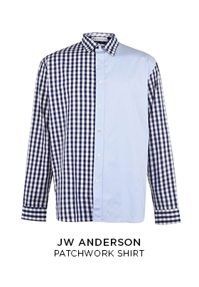 JW Anderson blue patchwork shirt