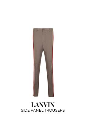 Lanvin side panel trousers