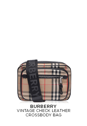Burberry Vintage Check Leather Crossbody Bag