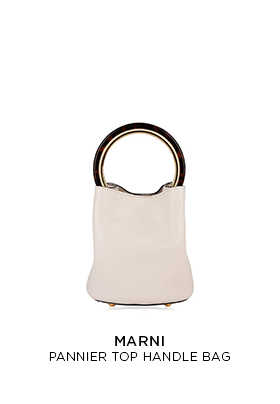 Marni pannier cream leather top handle bag