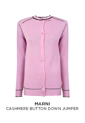Pink Marni cashmere button down cardigan