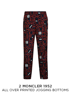 Moncler 1952 all-over printed jogging bottoms
