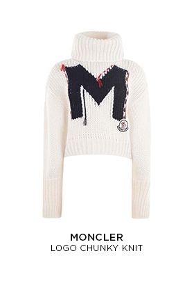 Moncler logo chunky knitted jumper