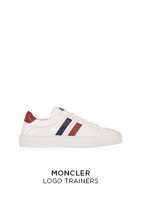Moncler logo trainers