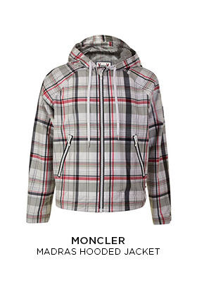 Moncler madras hooded jacket