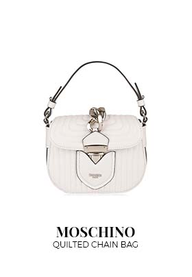 White Moschino quilted chain shoulder bag