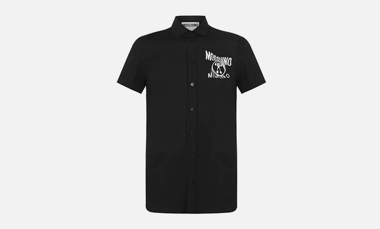 Moschino scream short sleeved shirt