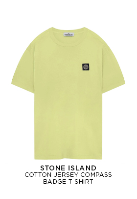 Stone Island Cotton Jersey Compass Badge T-Shirt