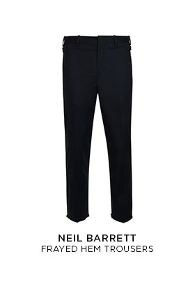 Neil Barrett frayed hem trousers