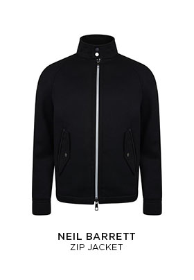 Neil Barrett zip-up wool jacket
