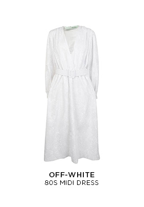 Off-White 80s white midi dress