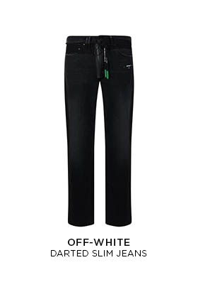 Off White darted slim jeans