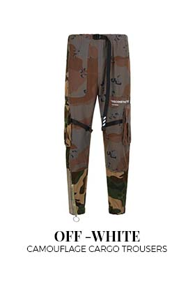 Off-White Camoflauge Cargo Trousers