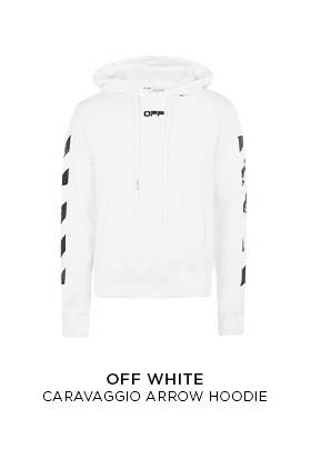 Off White Caravaggio arrow hoodie