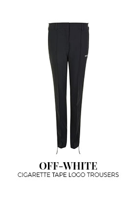 Off-White Cigarette Tape Logo Trousers