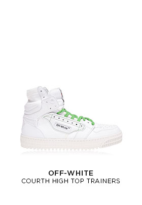 Off-White court high top trainers