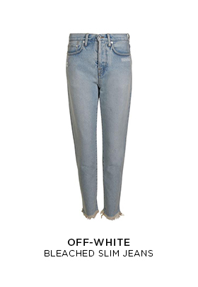 Off-White bleached slim jeans