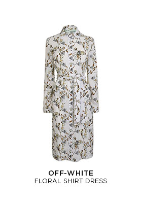Off-White floral print shirt dress