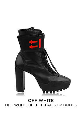 Off-White heeled lace up boots