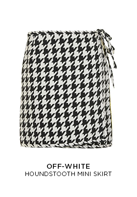 Off-White houndstooth mini skirt