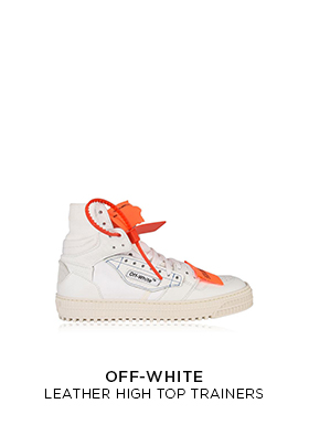 Off-White leather high top trainers