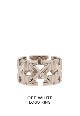 Off-White logo ring