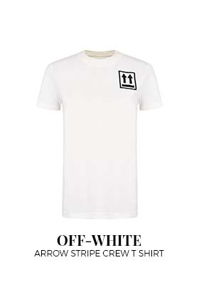 Off White Arrow Stripe Crew T Shirt