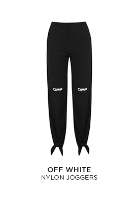 Off-White nylon joggers
