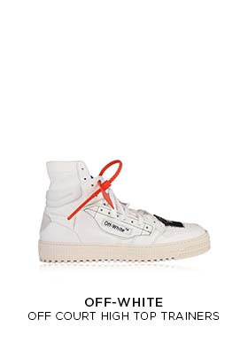 Off-White off court high top trainers