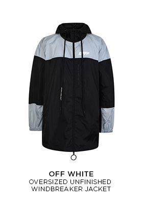 Off-White oversized unfinished windbreaker
