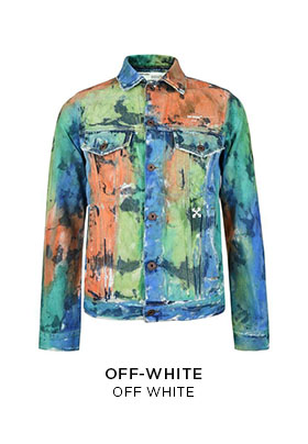 Off-White paint denim jacket