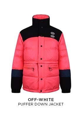 Off-White puffer down jacket in pink