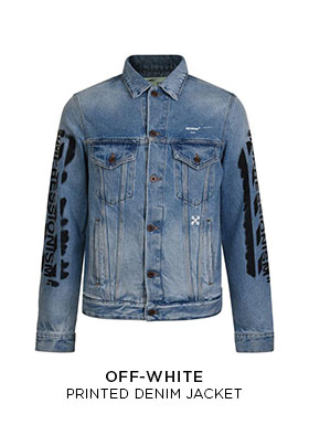 Off-White printed denim jacket