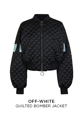 Off-White quilted bomber jacket
