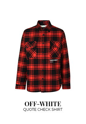 Off-White quote checked shirt