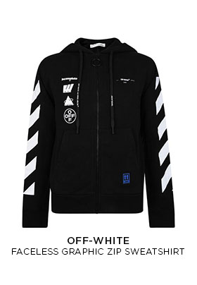 Off-White faceless graphic zip sweatshirt