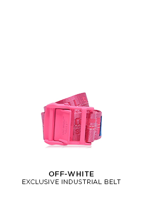 Flannels X Off White exclusive pink industrial belt