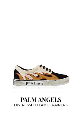 Palm Angels Distressed Flame Trainers