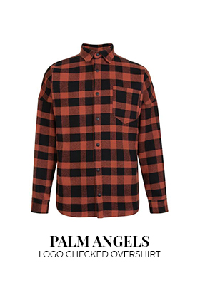 Palm Angels Logo Checked Overshirt
