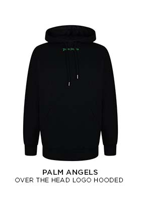 Palm Angels over the head logo hooded sweatshirt