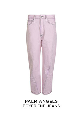 Palm Angels pale pink boyfriend jeans