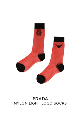 Prada light nylon socks