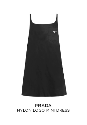 Prada nylon logo mini dress