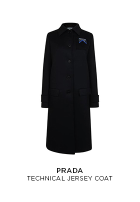 Prada technical jersey coat
