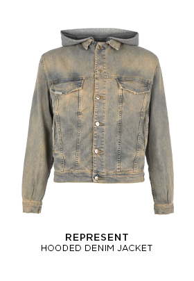 Represent Hooded Denim Jacket