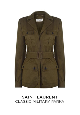 Saint Laurent classic military parka