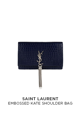 Saint Laurent Embossed Kate shoulder bag