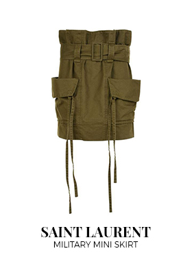 Saint Laurent military mini skirt