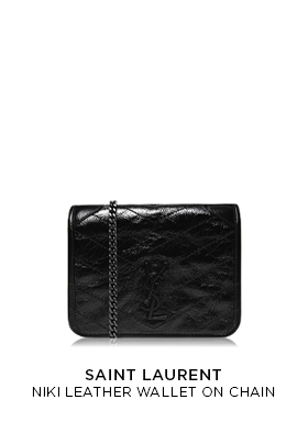Saint Laurent Niki Leather Wallet Chain